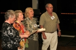 Kathy Kirkpatrick, Betty Ferrero, Judy Boyles & Roger Heath led the singing of our alma mater song -- with gusto!