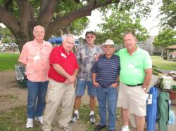 Other half of our class welcoming committee: Wayne Giroux, Bob Peterssen, Don Henry, Jon Yuriar, & Craig Bumgarner.